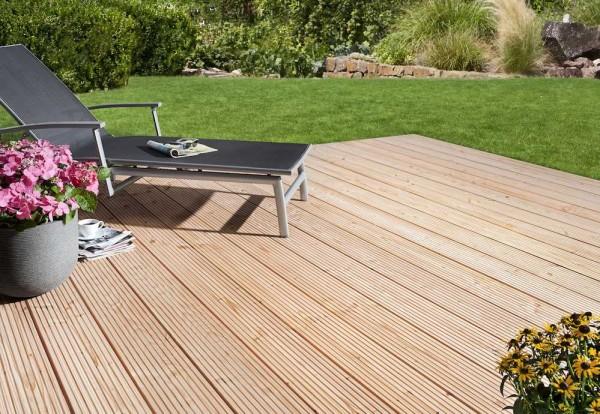 Gut gemocht Terrassendiele Douglasie genutet / glatt 28 x 175 x 3000 mm YJ17