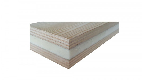 Sandwichplatte Kiefer-Carolina MF | 2500 x 1700 x 24 mm